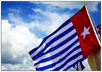 West Papuan flag. Photo credit: SIBC.