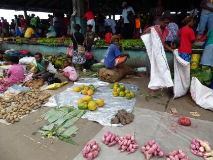 Food varieties sold at markets. Photo credit: SIBC.