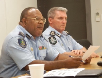 Supervising Acting Police Commissioner Walter Kola announcing the investingation