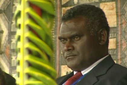 Former Prime Minister hits out at Opposition Leader Dr Derek Sikua. Photo: Courtesy of ABC