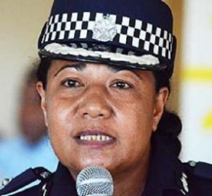 Acting Police Commissioner addressing the local media in her weekly press conference recently.