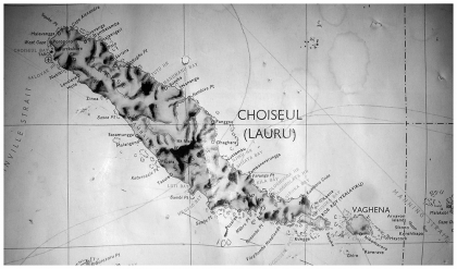 A map of Choiseul Province in which the Ririo group is located. Photo credit: SIBC