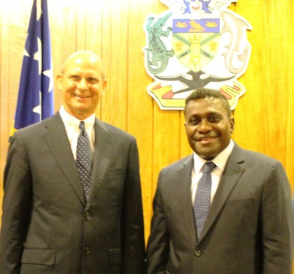 The President of the Seventh Day Adventist Church visited Prime Minister Gordon Darcy Lilo today. Photo: PPMC