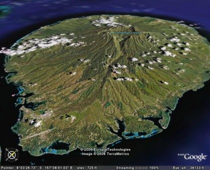 A google map of the Kolombangara island. Photo: Google Map