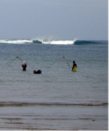 Fishermen on a typical day out doing their routine. Photo: Google