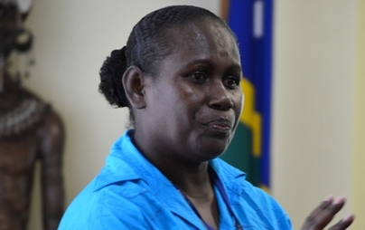 National Coordinator for Advancing Gender, Justice Program,for the  UN Women Office in Solomon Islands , Audrey Manu. Photo: Courtesy of www.pacwip.org.