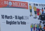 A billboard advertisement of the registration exercise. Photo: SIBC.