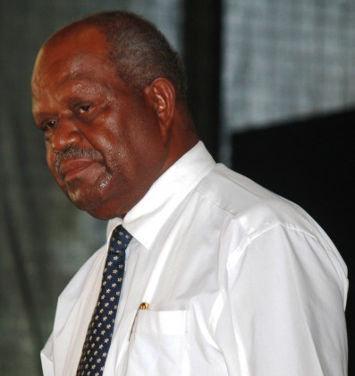 Chairman of the Solomon Islands Electoral Commission Sir Allan Kemakeza at the launch. Photo: Courtesy of GCU