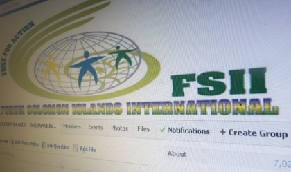The Facebook page of the Forum Solomon Islands International. Photo: SIBC.