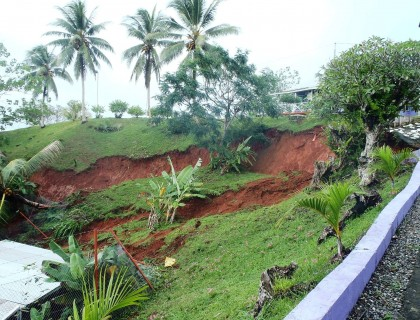 Gizo landslides are increasing. Photo: Courtesy of Adrian Sina's Facebook account.