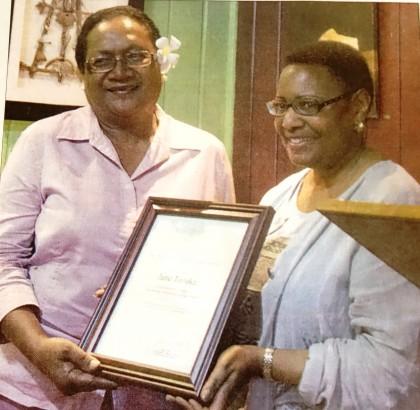 Jane Tozaka was awarded with the Secretary of State's International Women of Courage Award . Photo: SIBC