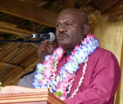 Malaita Premier Hon. Edwin Suibaea. Photo credit: SIBC.