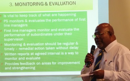 PSC Chair Eliam Tangirongo presenting his office's findings. Photo:SIBC.