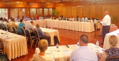 A workshop for Permanent Secretaries. Photo: SIBC.