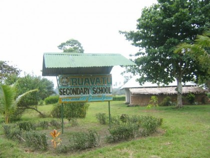 The Ruavatu school billboard. Photo: Courtesy of panoramio.com