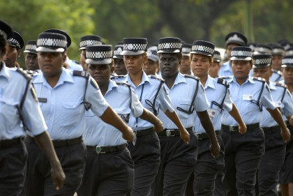 Women police officers of RSIPF. Photo: Courtesy of Wikimedia.