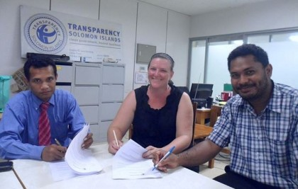 TSI officers at their office in China Town, Honiara. Photo: Courtesy of TSI.