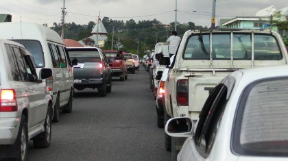A typical day for traffic in Honiara. Photo: SIBC