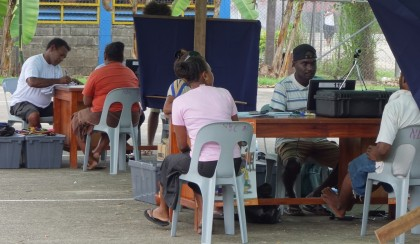 The West Honiara Constituency Voter's Registration Centre. Photo: SIBC
