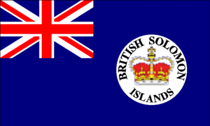 The British Flag in the years of the Solomon Islands British Protectorate. Photo credit:States-world.