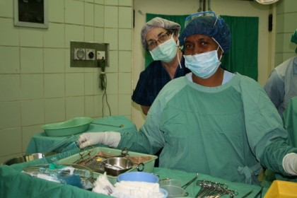 The visiting surgical team is part of the same visiting program.