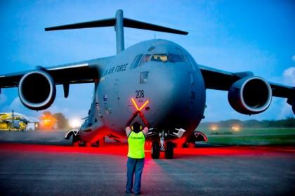 Royal Australian Air Force -  C17. Photo: Australia in Solomon Islands.