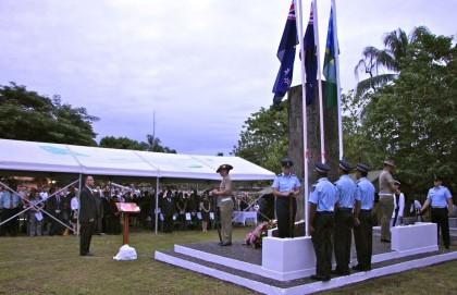 ANZAC Day celebrated today. Photo credit: Australia in Solomon Islands.