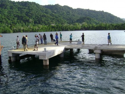 Government's work on upgrading wharves in the country has started. Photo credit: Nawae.