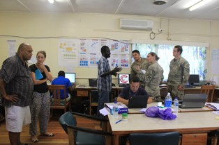 Australia and NZ Personals visited NDC operation centre. Photo credit.