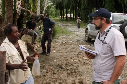 Australian High Commission Rapid Response team out in the field. Photo credit: Australia in Solomon Islands  Facebook page.