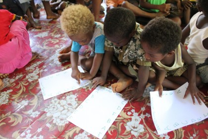 Early Childhood Education in the Solomon Islands. Photo credit: AusAid.