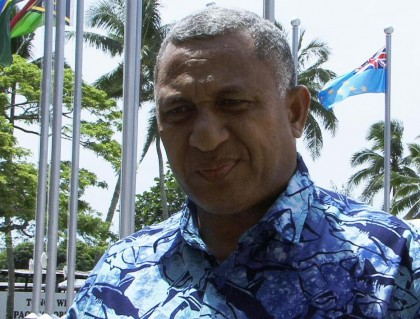 The Fijian Prime Minister Frank Bainimara has conveyed Fijian sympathies to Solomon Islands and its people. Photo credit: Pacific Scoop.