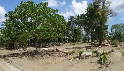 Flood aftermath up at the Guadalcanal Plains. Photo credit: SIBC.