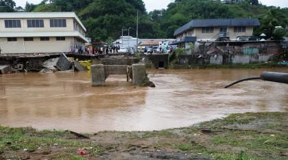 Flood-hit China Town in Honiara. Photo credit: SIBC.