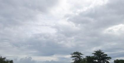 Clouds over Honiara. Photo credit: SIBC.