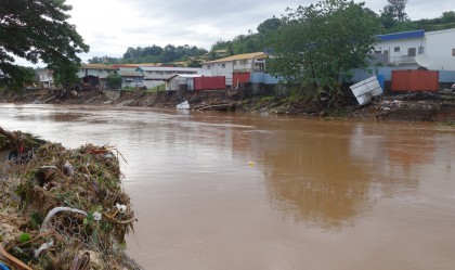 Matanikau floods aftermath. Photo credit: SIBC.