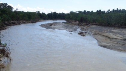 Ngalibiu river in North Guadalcanal after the floods. Photo credit: SIBC.