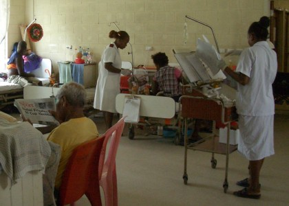 Inside the National Referral hospital. Photo credit: SIBC.