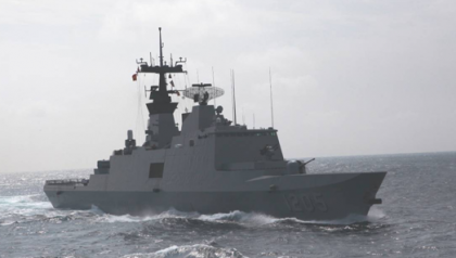 Another of the Navy vessels. Photo credit: Taiwan Embassy.