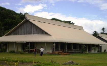 The school hall at Selwyn College, West Guadalcanal. Photo: Courtesy of Panoramio.