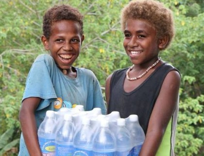 Some of the clean drinking water provided by Australia. Photo credit: Australia in Solomon Islands.