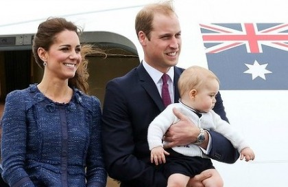 The Royal Couple arriving in Australia for their Australian tour. Photo credit: Sydney Morning Herald.