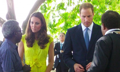 The Royal couple during their visit to Solomon Islands. Photo credit: SIBC.