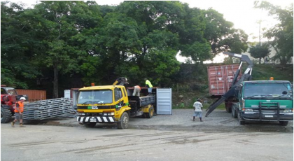 The Bailey Bridge has arrived. Photo credit: NZ Honiara High Commission Office.