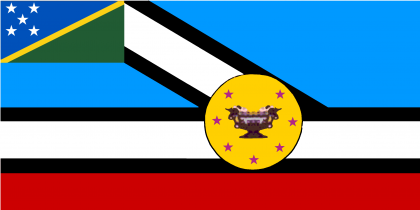 The Makira Ulawa Provincial flag. Photo credit: Wikimedia.