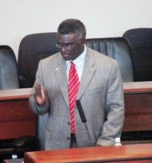 Hon. Manasseh Sogavare in Parliament. Photo credit: SIBC.