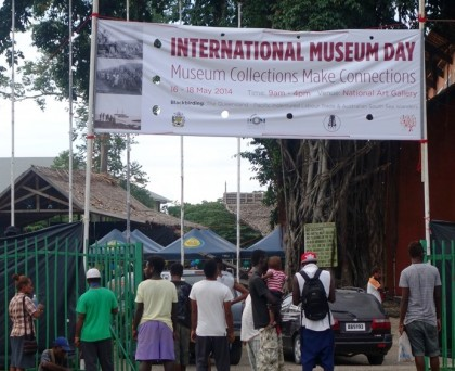 Members of the public attending activities at the International Museum Day in Honiara. Photo credit: SIBC.