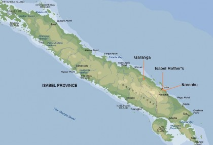 A map of Isabel Province in Solomon Islands. Photo credit: siartc.