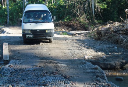An access road built by the people themselves. Photo credit: SIBC.