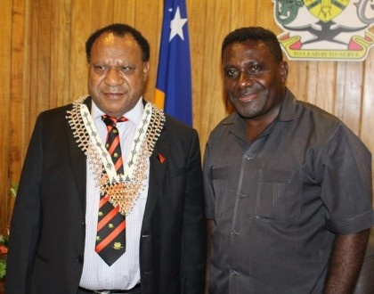 PM with PNG foreign affairs minister. Photo credit: OPMC.